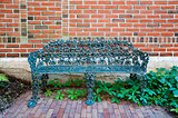 Bench inside a park in Maine, USA