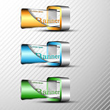 Set of 3d banners template.