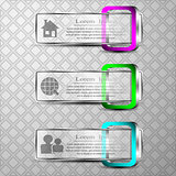 The vector set of 3d bannersThe vector set of 3d banners with 3d square