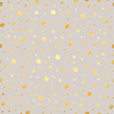 Classic dotted seamless gold pattern. Polka dot ornate