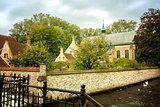 View into the Beguinage De Wijngaard in Bruges, Belgium