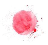 Red round watercolor vector texture