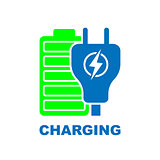 Charge Battery flat vector pictograph. Flat icon style for graphic design