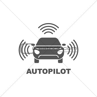 Autopilot icon. Simple element illustration. Autopilot symbol design from Artificial Intelligence collection. Can be used in web and mobile.