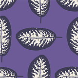 Dieffenbachia ultra violet tropical leaf seamless pattern. Vector illustration