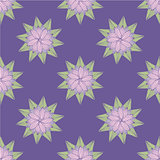 Floral doodle seamless pattern. Vector illustration