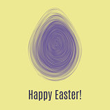 Happy Easter ultra violet card. Egg hunt for children template layout. Vector illustration.