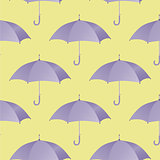 Ultra violet umbrella seamless pattern. Vector illustration.
