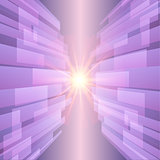 Abstract ultra violet technology background with glow star. Vector illustration.