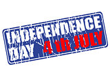 Independence day of USA rubber stamp