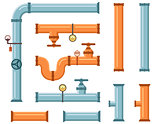pipes set for plumbing or construction industry
