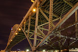 Under the Fremont Bridge at Night
