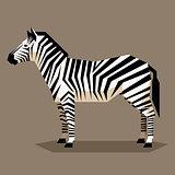 Flat geometric Zebra