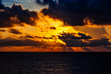 Dramatic sunset over the ocean