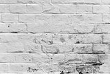 Old weathered white brick wall texture