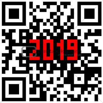 Modern technologies 2019 written inside a QR code