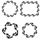 circle footprint frames set