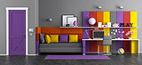 Colorful teen bedroom