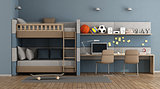 Teen room with bunk bed