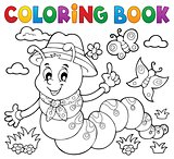 Coloring book happy caterpillar 1