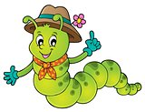 Happy caterpillar theme image 1