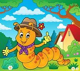 Happy caterpillar theme image 2