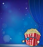 Stylized popcorn theme image 6