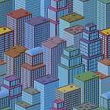 3D Isometric City, Seamless Background