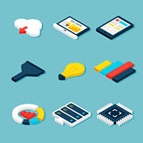 Big Data Business Isometric Objects