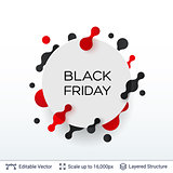 White badge Black Friday sticker.