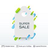 White badge Super Sale sticker.