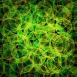 abstract vector glowing background with bright circles