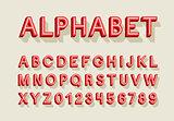 Retro alphabet.