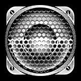 stylish vector detailed illustration with speaker