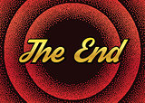 The red End screensaver in retro stypple style