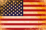 vector grunge flag of the united states of america