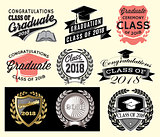 Graduation sector set Class of 2018 Congrats grad Congratulations Graduate