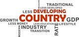 word cloud - developing country