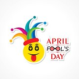 Vector illustration of April Fools Day Greeting