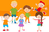 cartoon funny children characters group
