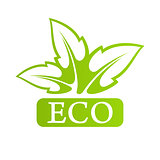 Logo Eco with green leafs