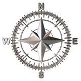Metallic compass rose 3D