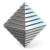 Steel octahedron 3D