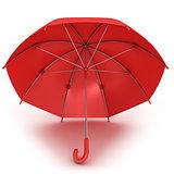 Red umbrella 3D