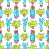 pattern with cactuses