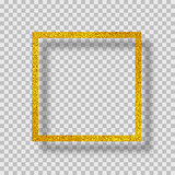 golden frame with shadow