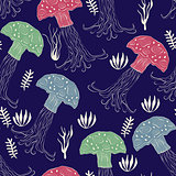 Vector Seamless Pattern with Jellies
