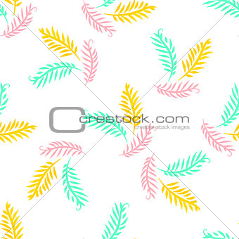 Bright seamless vector pattern with sprigs for banner, card, invitation, textile, fabric, wrapping paper.