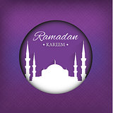 Illustration of Ramadan Kareem Purple Background