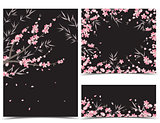 Sakura branch decoration